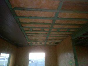 Минвата в межэтажном перекрытии, толщина слоя 200 мм